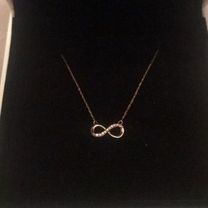 Jewelry - REAL 10k rose gold infinity necklace
